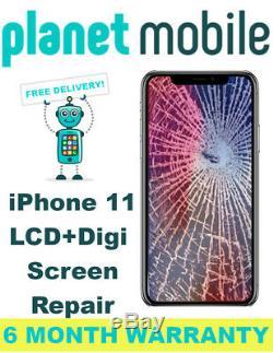Apple iPhone 11 LCD + Digitizer Glass Screen Replacement Repair Service