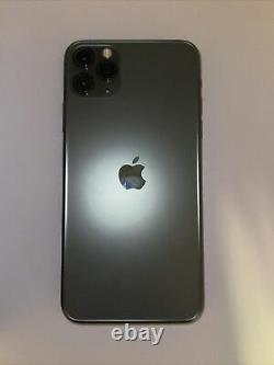 Apple iPhone 11 Pro Max 64GB Midnight Green Needs Screen replacement-Clean IMEI
