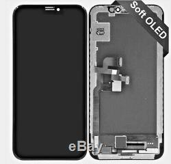 Fits iPHONE X PREMIUM OEM SOFT OLED TOUCH SCREEN DISPLAY REPLACEMENT 5.8 BLACK