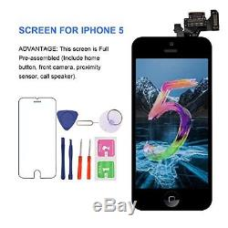 For iPhone 5 Screen Replacement With Home Button MAFIX Full Pre-assembly LCD Kit