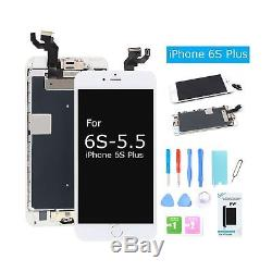 For iPhone 6S Plus Screen Replacement LCD Display with Home Button Front Came