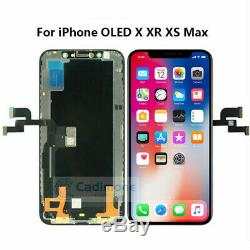 For iPhone X XR XS MAX LCD Display Touch Screen Digitizer+Frame Replacement LOT