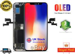 For iphone X Original Apple Oled 100% Oled Lcd Screen Replacement U. K