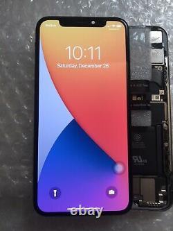 Genuine OEM Original Apple Black iPhone X OLED Screen Replacement Good Condi#100
