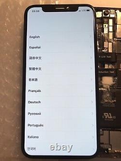 Genuine OEM Original Apple Black iPhone X OLED Screen Replacement Good Condit#43
