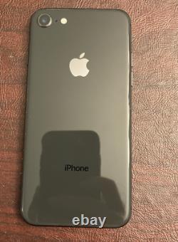 IPhone 8 Black 64GB/Unlocked/Verizon- Works but Broken Camera/Screen Replaced