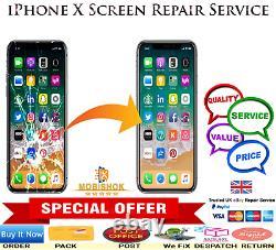 IPhone X LCD Screen Repair Replacement Economy Service Next Day Repair & Return