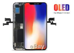 IPhone X OEM OLED LCD Display Screen Digitizer Replacement+Separate Adhesive