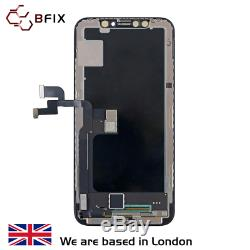 IPhone X Screen OLED replacement, Original refurbished, Genuine, Black