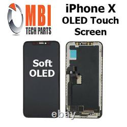IPhone X Soft OLED Inner Display Touch Screen Digitizer Glass Replacement Black