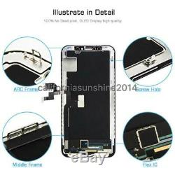 IPhone X XS XR LCD OLED Display Touch Screen Digitizer Assembly Replacement