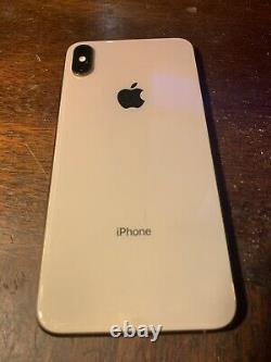 IPhone XS Max 256gb AS-Is Cracked screen Parts Repair Only C l o u d On