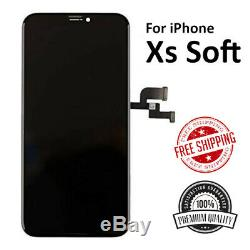 IPhone XS OLED Soft Display Screen Replacement + 9H Tempered Glass + Adhesive