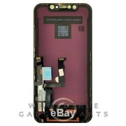 LCD Digitizer Frame Assembly Apple iPhone XR Black OEM Grade Screen Replacement