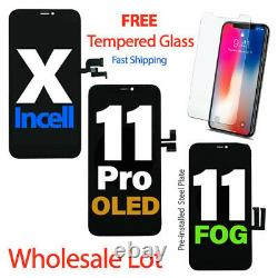 LOT For iPhone X XR XS Max 11 Pro OLED LCD Touch Screen Digitizer Replacement