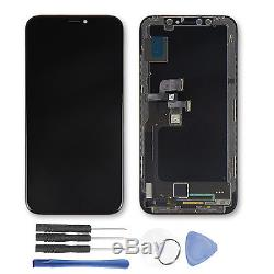 OLED LCD Display Touch Screen Digitizer with Bracket Replacement For iPhone X 10