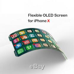 Premium iPhone X OLED Soft Display Screen Digitizer Replacement, Tool + Adhesive