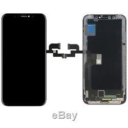 Replacement LCD display + touch screen digitizer assembly for iPhone X(Black)