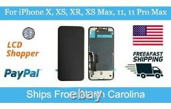 USA iPhone X, XR, XS, XS Max, 11, 11 Pro Max OLED LCD Replacement Lot